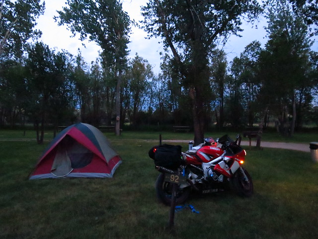 Set up Camp in Snake Campground