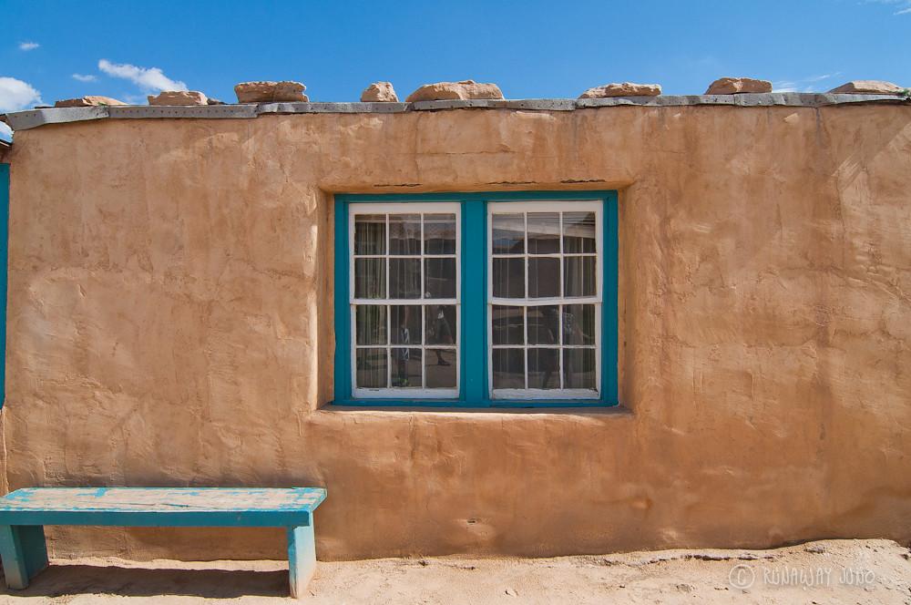 Acoma Pueblo house window