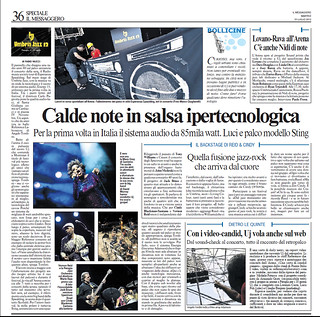 Calde note in salsa ipertecnologica (Il Messagero Umbria 10/07/12)