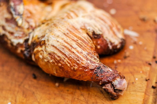 Smoked Chicken with White Sauce