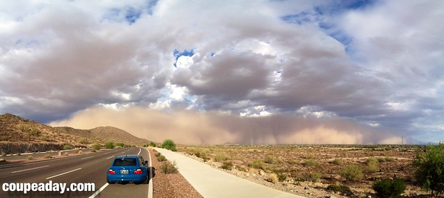 2002 M Coupe | Laguna Seca Blue | Black | Phoenix, AZ Dust Storm | Sand Storm | Haboob | Photosynth | iPhone 4S