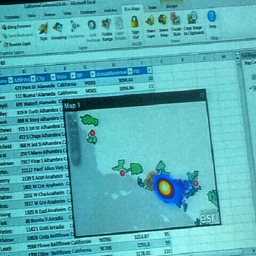 Arcgis geocoding service inside Excel... Sweet! #esriuc