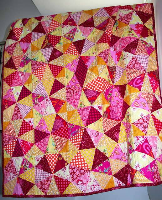 raspberry lemon quilt front