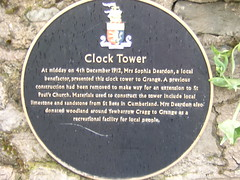 Photo of Clock Tower, Grange-over-Sands and Sophia Deardon black plaque
