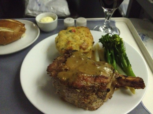 United Airlines BusinessFirst Pork Chop