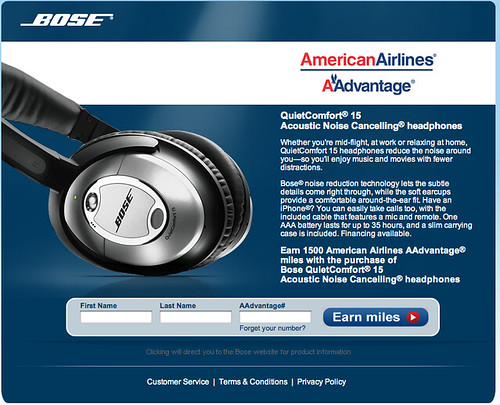 Screenshot of new Bose bonus offer