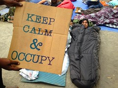 Occupy LA, Pershing Square, July 17.