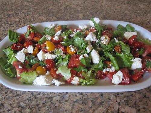 roasted tomato salad 002