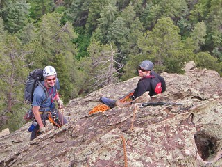 Andy and Jack at a Belay