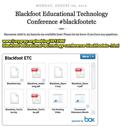 Blackfoot Educational Technology Conference #blackfootetc