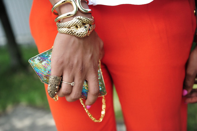 Peplum & Orange details by www.jadore-fashion.com