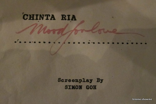 Chinta Ria Mood for Love Screenplay
