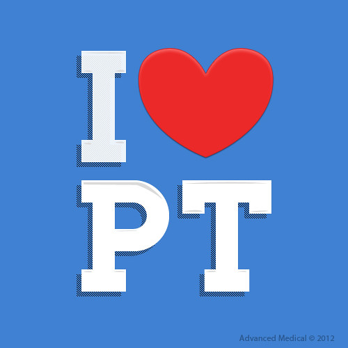 I Love Physical Therapy Logo