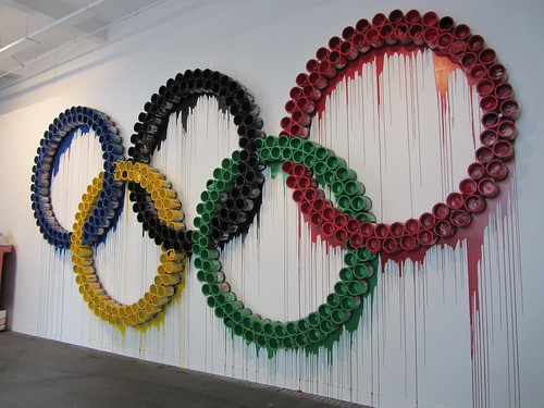 Mr Brainwash London Exhibition: Olympic Rings