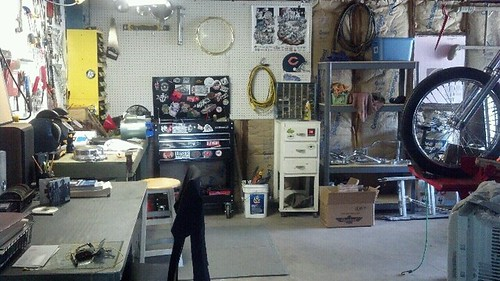 Beginning to get the shop in order! Gotta make room for some big tools!