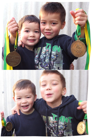Boys and Medals 2008