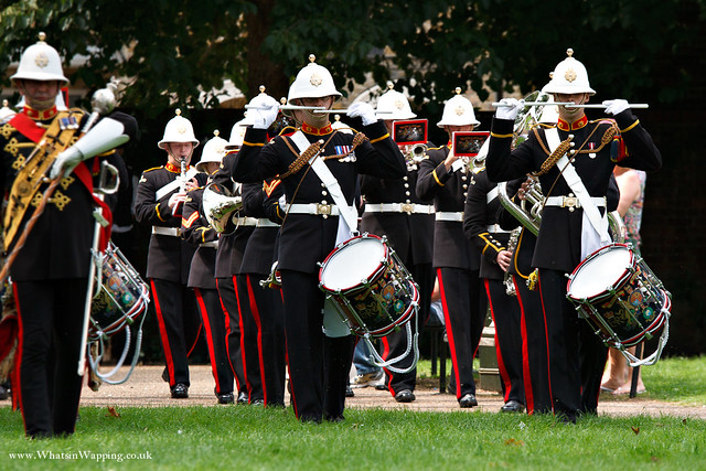 The short ceremony began with the arrival of the Royal Marine (Portsmouth) band