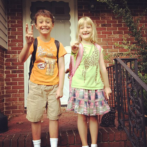 First day of school, 2012. 3rd & 1st. Sniff.