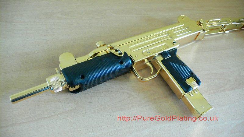 Gold plated uzi