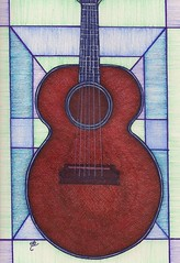 Strings Red Guitar