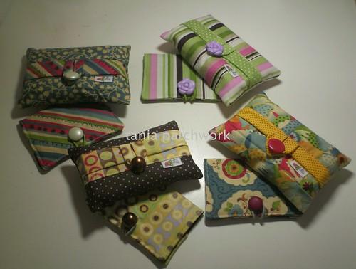 porta lenço de bolso + porta cartão ..... by tania patchwork