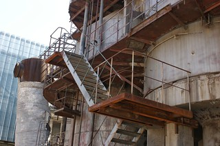 Old factory stair with rust
