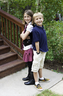 Abbie and Jack on the First Day of School 2012
