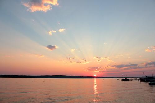 sunset summer lake ny perfect chautauqua