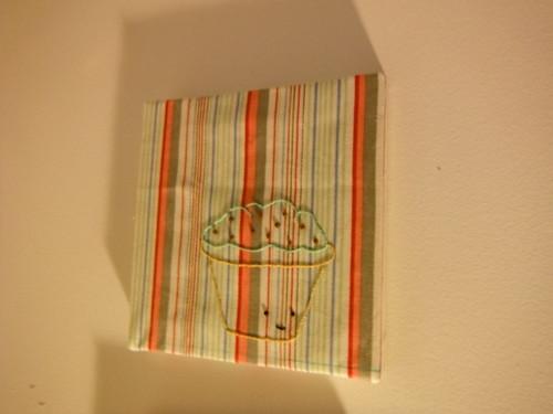 Choc-mint cupcake