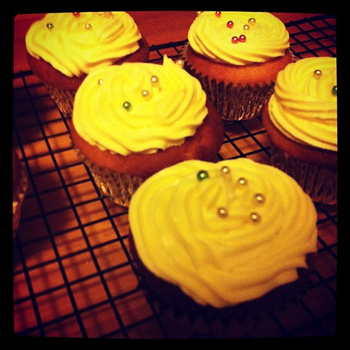 Finished! Lemon Diva Cupcakes from Julie Goodwin.