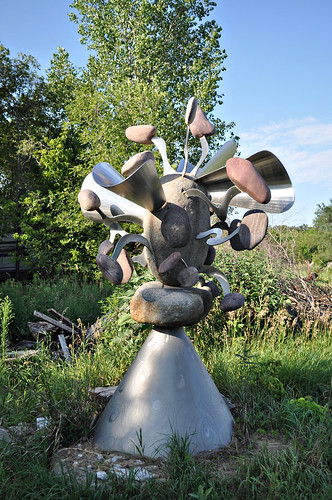 Rock and Metal Sculpture at Big Stone