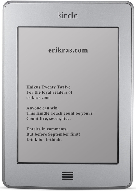 Kindle Touch - Haiku Competition