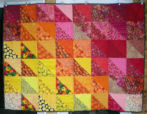 fruit quilt 54x72 from Tove
