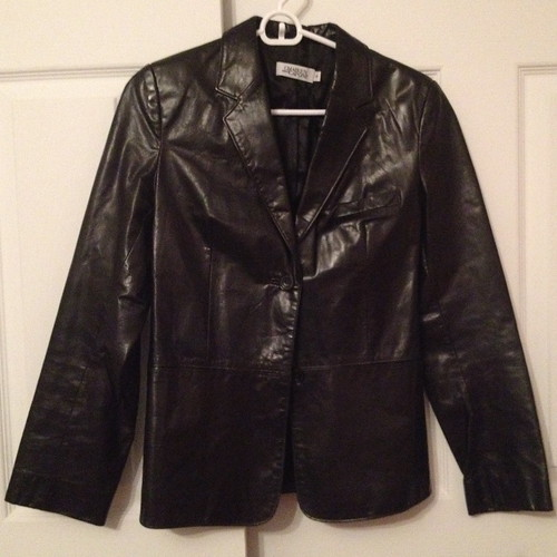 Chaiken and Capone leather blazer from tag sale in Woodbury