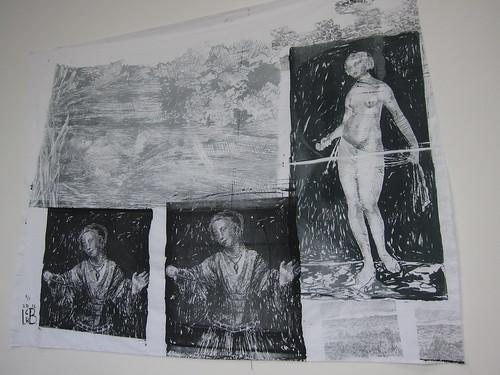Idun Baltzersen: Lucretia, Ophelia (etter Millais, Rembrandt, Cranach)