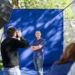 Patrick Ness photocall | Patrick Ness striking a pose for the press photographers