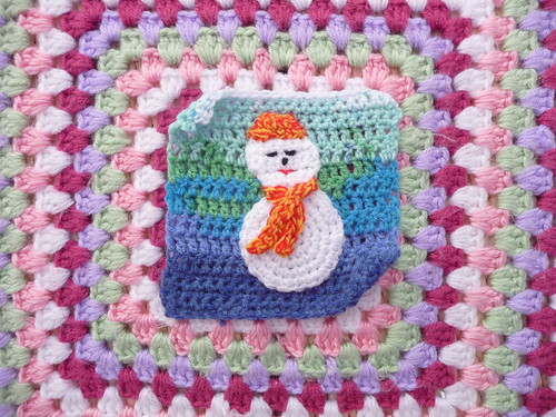Square for our 'Snowman Challenge'. Isn't he cute? Thank you so much 'creativegranny!'