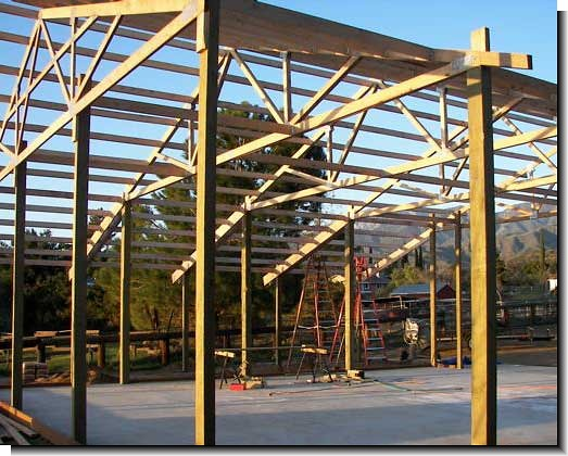 How to build pole barn flickr photo sharing for How to build pole barn house