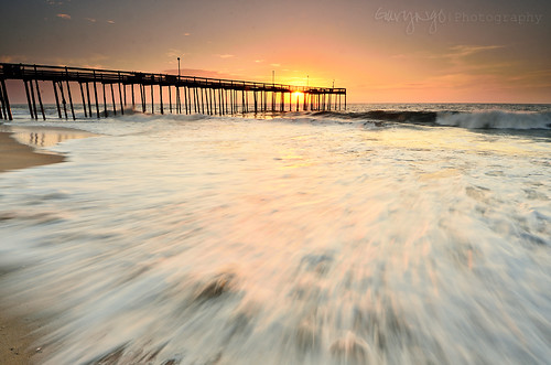 light usa seascape motion beach sunrise pier fishing nikon maryland wave oceancity 1224mm d7000
