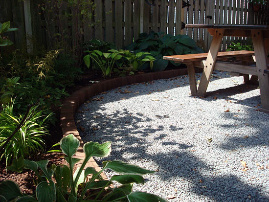 patio edging crushed stone flickr photo sharing