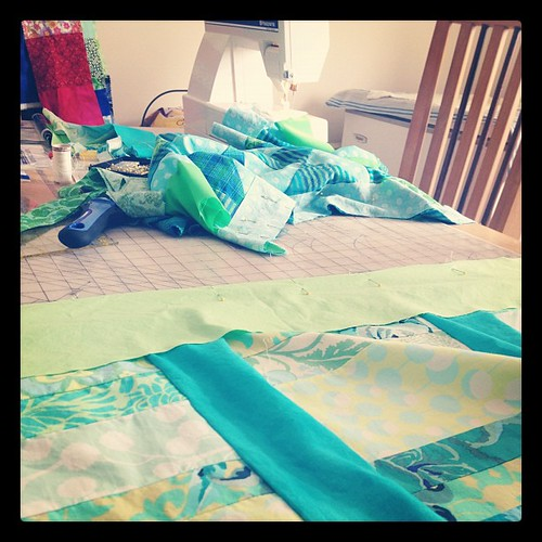 3 days with mom = 2 quilts. Of course.