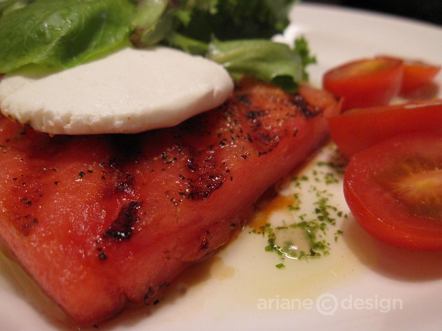 Bourbon Quarter/Grilled Watermelon Salad