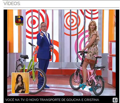 """A escola da Cenas a Pedal no """"Você na TV"""" da TVI, a 10/8/2012"""