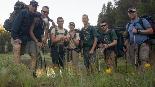 Leaving Agua Fria to climb Black Mountain
