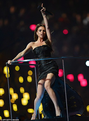 Victoria Beckham Posh Spice at London Olympics 2012