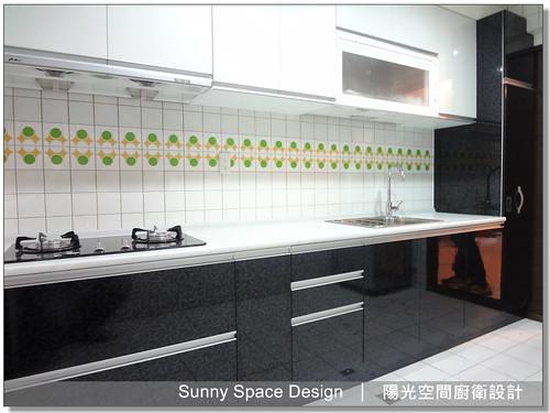 廚具│廚房設計│廚具大王林易延-士林福港街陳先生一字型廚具-陽光空間廚衛設計5