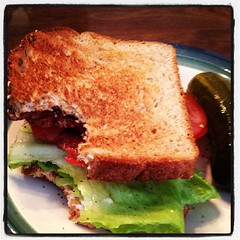 you know you want some. (BLT made with organic bacon, which is a delicious thing that exists.)