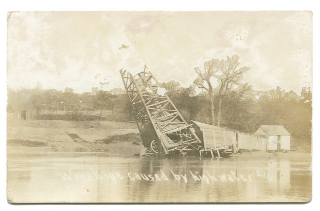 Wreckage caused by high water