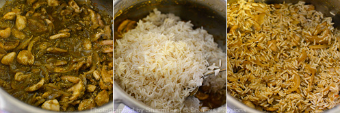 How to make mushroom biryani - Step4