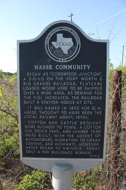 Hasse Community Comanche County Texas Historical Marker
